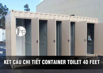 KẾT CẤU CHI TIẾT CONTAINER TOILET 40 FEET