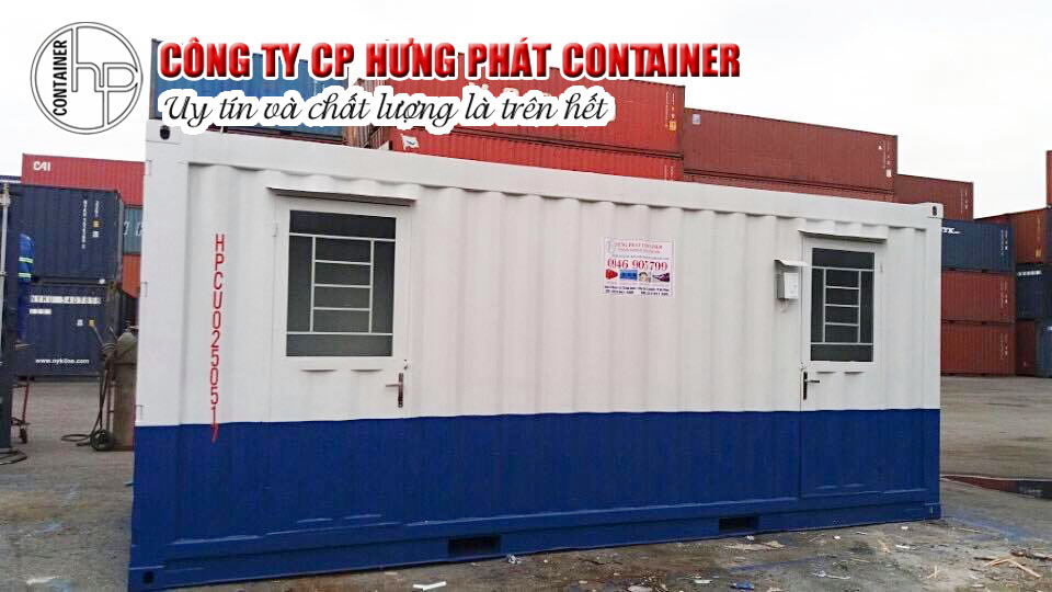 container văn phòng 20 feet hưng phát container